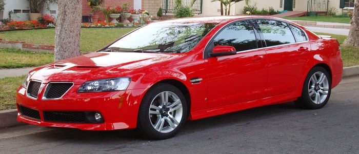 The Pontiac G8 is a rear-wheel drive sedan that was produced by Holden, the Australian General Motors (GM) subsidiary. The G8, a rebadged Holden Commodore, was released in early 2008 for the 2008 model year in the United States, and in 2008 for the 2009 model year in Canada.