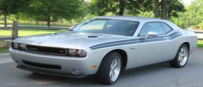 The Dodge Challenger is the name of three different generations of automobiles marketed by the Dodge division of Chrysler. The Dodge Silver Challenger was produced from 1958 to 1959. From 1969 to 1974, the first generation Dodge Challenger pony car was built using the Chrysler E platform, sharing major components with the Plymouth Barracuda.